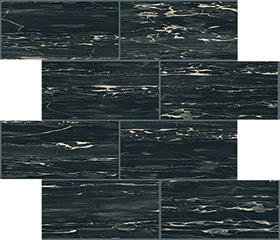Portoro glossy  modulo muretto sfalsato 7,5x15 30x30 cm