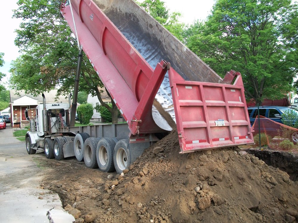 TRUCKING   Our trucks can haul anything from debris to concrete to fill materials, if you need anything removed off your site, we would like to help. While our trucks are running constantly, we take the appropriate measures to keep our trucks running for a long time.