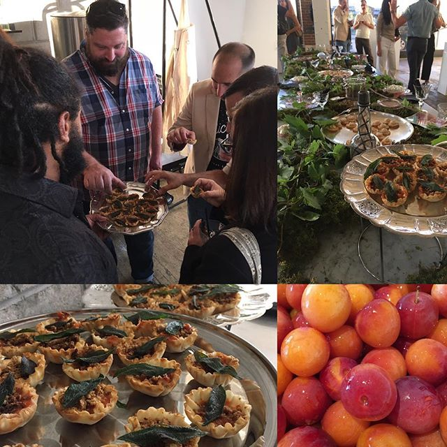 Provided a wild plum tart with a #cricketpowder crumble and fried sage leaf alongside @antietamdetroit @botanica_detroit @ourdetroit for an awesome stakeholder event with @detroitisit at @detroitwick.  #detentotho #detroitprotein #cricketpowder #foragedfood #saycricketplumcrumblethreetimesfast