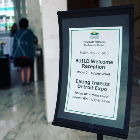 It was great last week at the Detroit Eating Insects Expo! It was the first conference in the U.S and we were happy to be apart of it! #Detroit #bugslife #sustainable #cricketprotein #delicious #community #detentotho