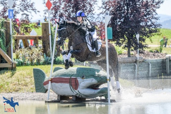 Callia Englund and Xyder at the 2018 North American Youth Championships at Rebecca Farm. USEA/Leslie Mintz Photo.