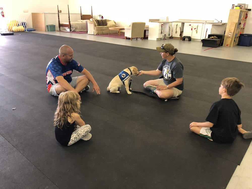 Training Kali is a family event at his puppy raiser's home. Great job Schwarting family!
