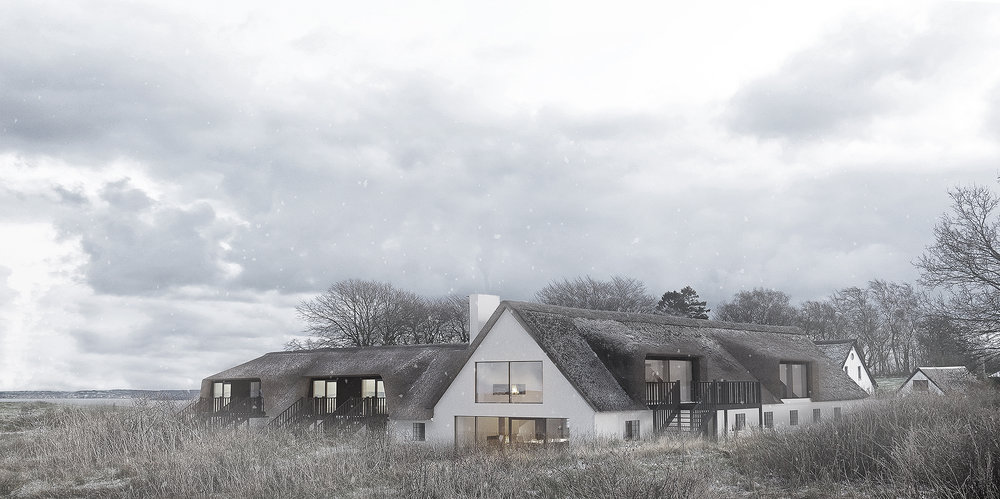 SØLBALLEGAARD. REVITALISING FARM NEAR VISTOFT/TREHØJE - NATIONAL PARK MOLS.  The old thatched farm is revitalized to host conferences, concerts, courses etc. Opening in 2019. Follow on https://www.instagram.com/soelballegaard/