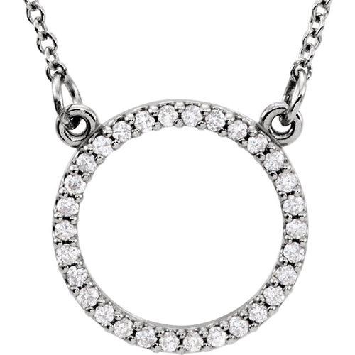Diamond circle necklace in 14 k white gold kate co jewelry designs diamond circle necklace in 14 k white gold aloadofball Choice Image