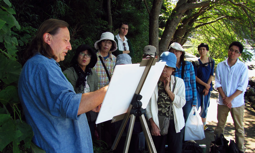 Pastel Painting Demo  -  Shiga, Japan