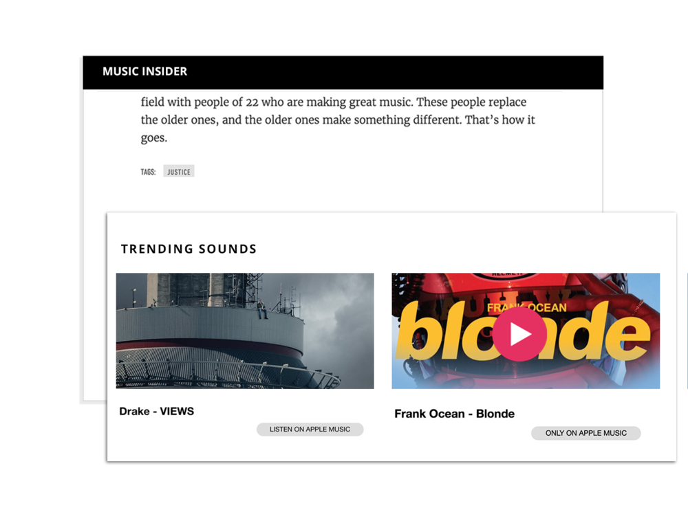 Wavo's Contextual Native Ads always fit your brands editorial & aesthetic