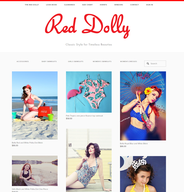 Example, Red Dolly. Project Web Design