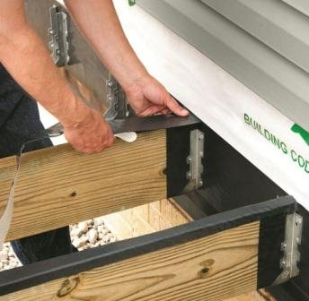 DeckWrap™ should be applied to the top of each joist. The self-sealing properties will seal around the deck nails or screws to prevent premature rot of the joists.