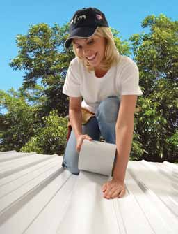 Ideal for sealing the seams on metal roofing systems, Peel & Seal® aggressively bonds for a watertight seal.