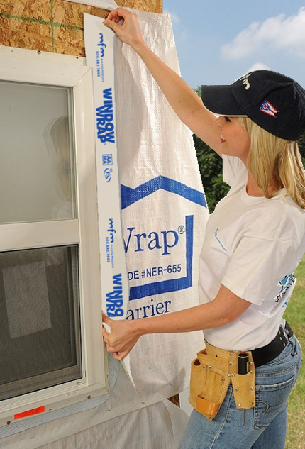 WindowWrap® White complies with AAMA 711 standards for an approved flashing material. It also has ICC-ES ESR 2783 report.