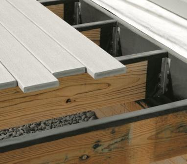 DeckWrap™ works with either treated lumber or wood composite decking.