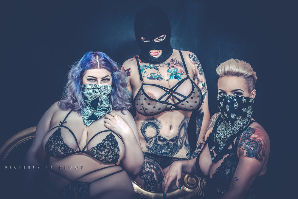 Model:  Sabien Demonia, Bibi Beauchelle, Peaches DiVine