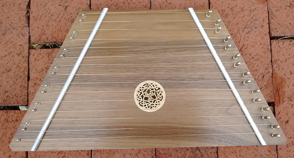 Walnut Lap Harp with Celtic Knot - Regularly Priced at $80, TODAY ONLY $72!