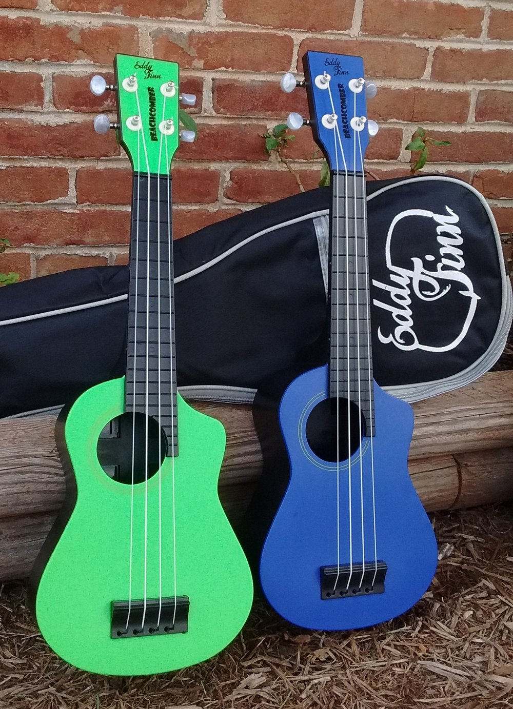 Eddy Finn Beachcomber Soprano Ukuleles - available in Green, Blue, Red, and Orange