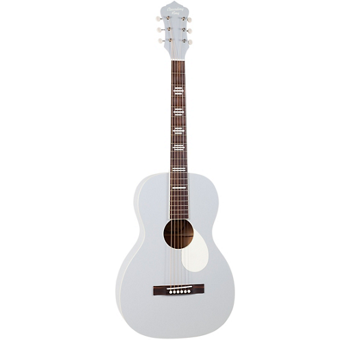 Recording King (RPS-7-GY) Dirty 30's Series 7 Single 0 Parlor Guitar, Matte Grey