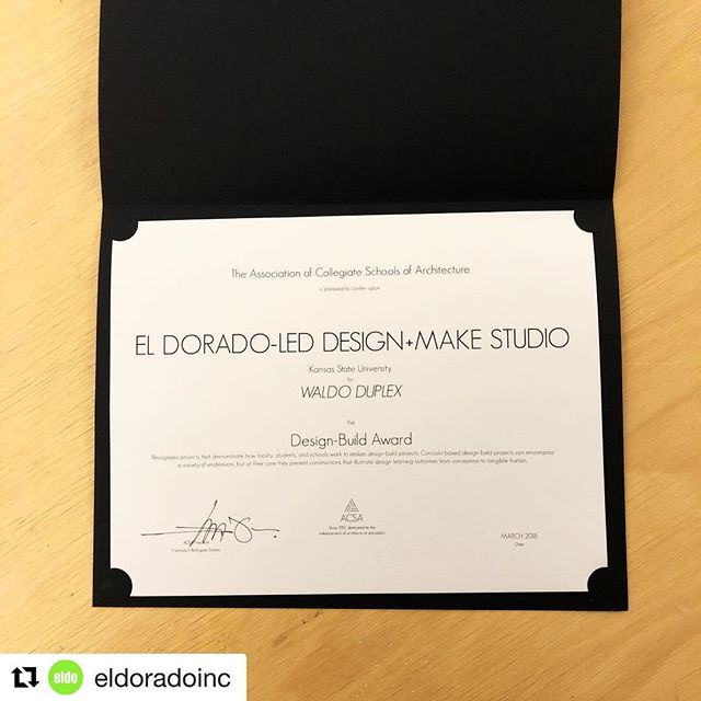 #Repost @eldoradoinc with @get_repost ・・・ Just in: the Design-Build @acsanational Award for the Waldo Duplex! Special congrats to @botwin_development @ksudesignmake and @kstatearch #designexcellence