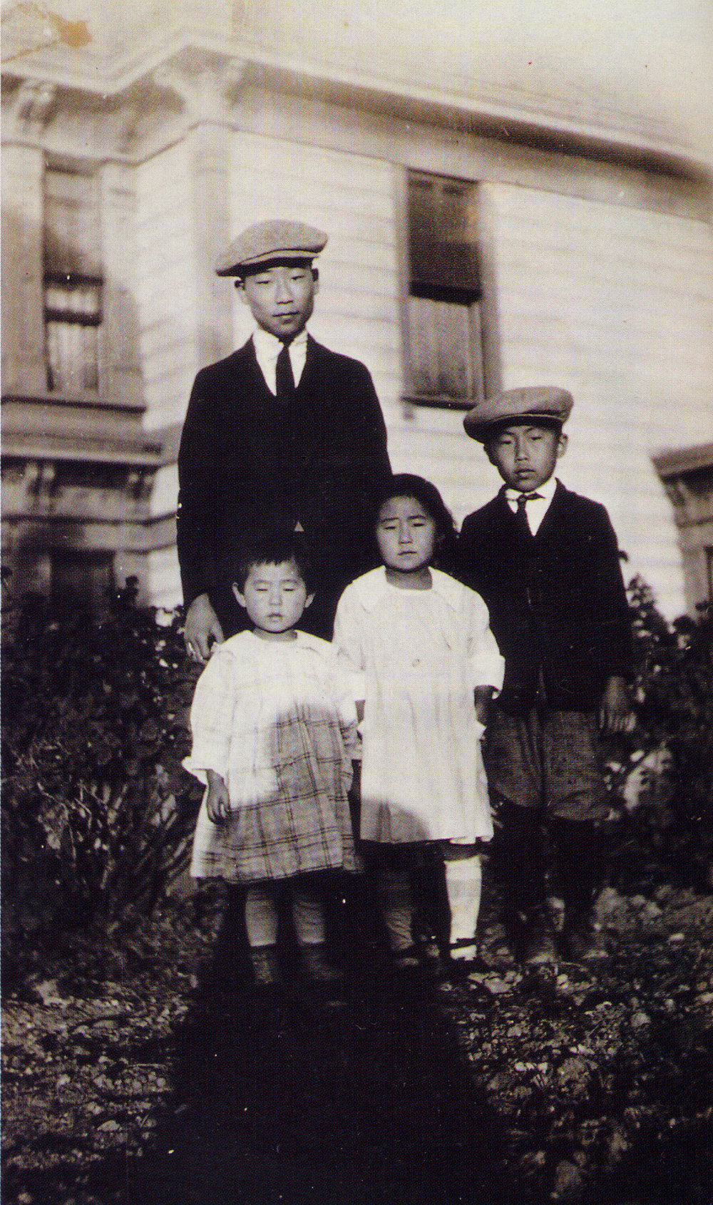 Philip (back), Soorah, Susan and Philson in Los Angeles, 1920