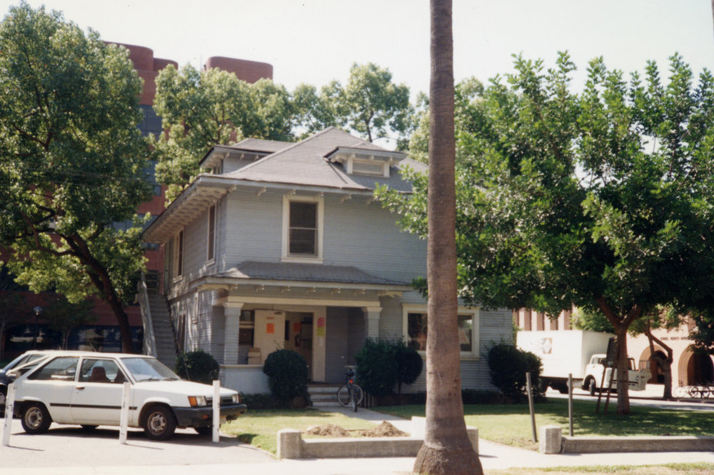 Original location of Ahn Family House at USC near the Engineering Department. This photo was taken in 1995 before it was moved and rennovated to be the USC Korean Studies Institute Office.