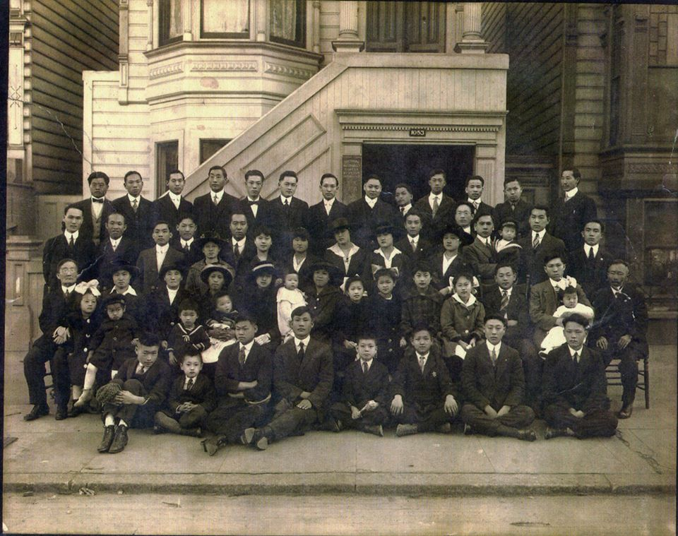 1910's in San Francisco. Korean Methodist Church   1053 Pacific Street - the first Korean Church in America started by Dosan.   These are some of the people who gave half their pay to the Korea Independence Movement.