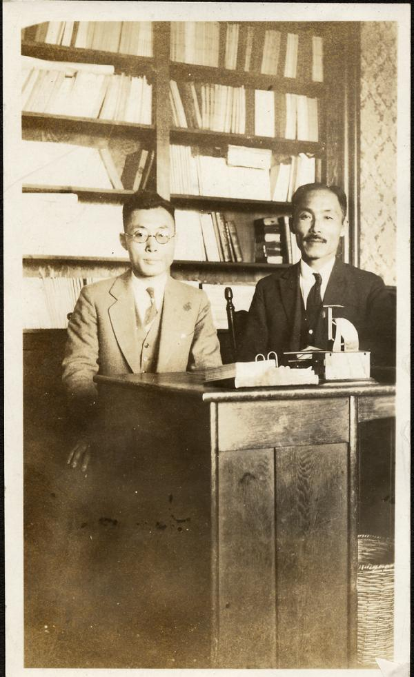 Chang Ni Ouk and Dosan in Los Angeles, 1925 | Chang Ni Ouk was one of Dosan's followers and became one of the most successful Hung Sa Dan members. He worked with Dosan in America and Korea during the Independence Movement. Chang went on to become Korea's Ambassador the the United Nations and President of Seoul National University.