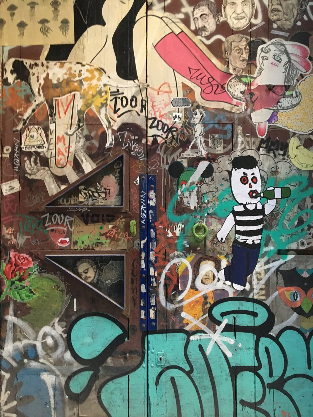 Graffiti was akin to murals in Barcelona— it was on every door, wall, and vertical surface you could find.
