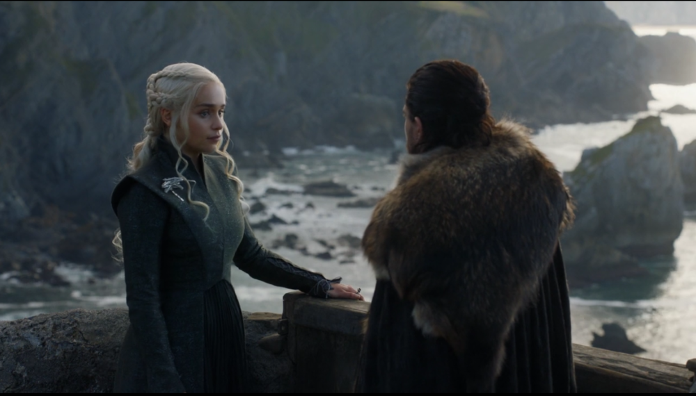 """You better get to work, Jon Snow."" Now if that's not a pick-up line, I don't know what is. #TeamJonerys"