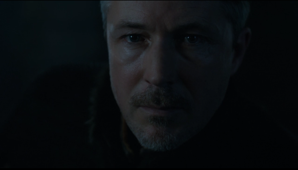 Petyr realizing for once someone knows more than he does.