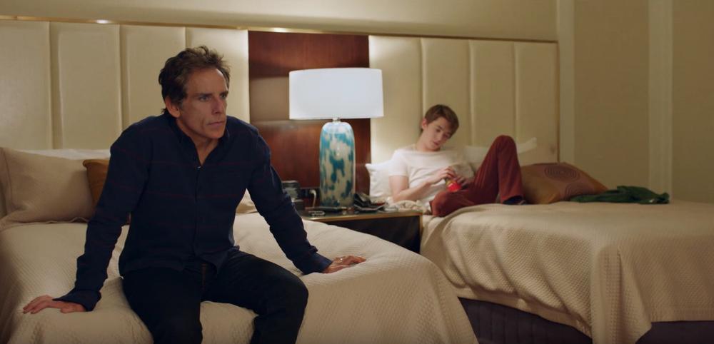 Ben Stiller as Brad Sloan, Austin Abrams as Troy Sloan | Photo courtesy of Amazon Studios