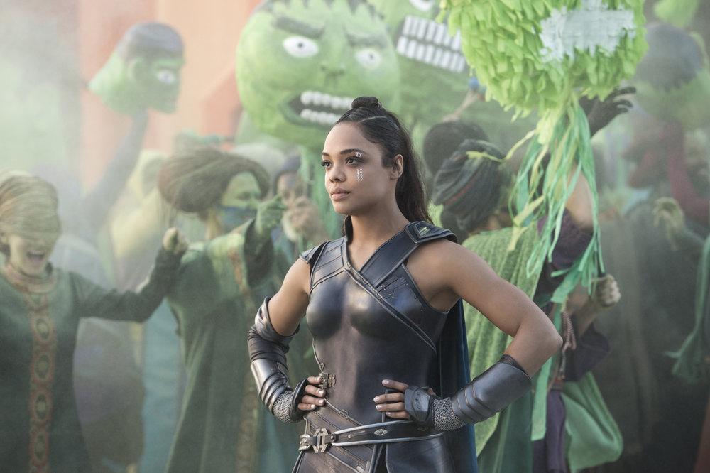 Where can I get one of these Hulk masks? | Tessa Thompson as Valkyrie, photo courtesy Walt Disney