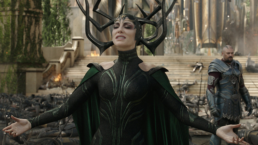 See? Antlers. | Cate Blanchett as Hela, photo courtesy Walt Disney