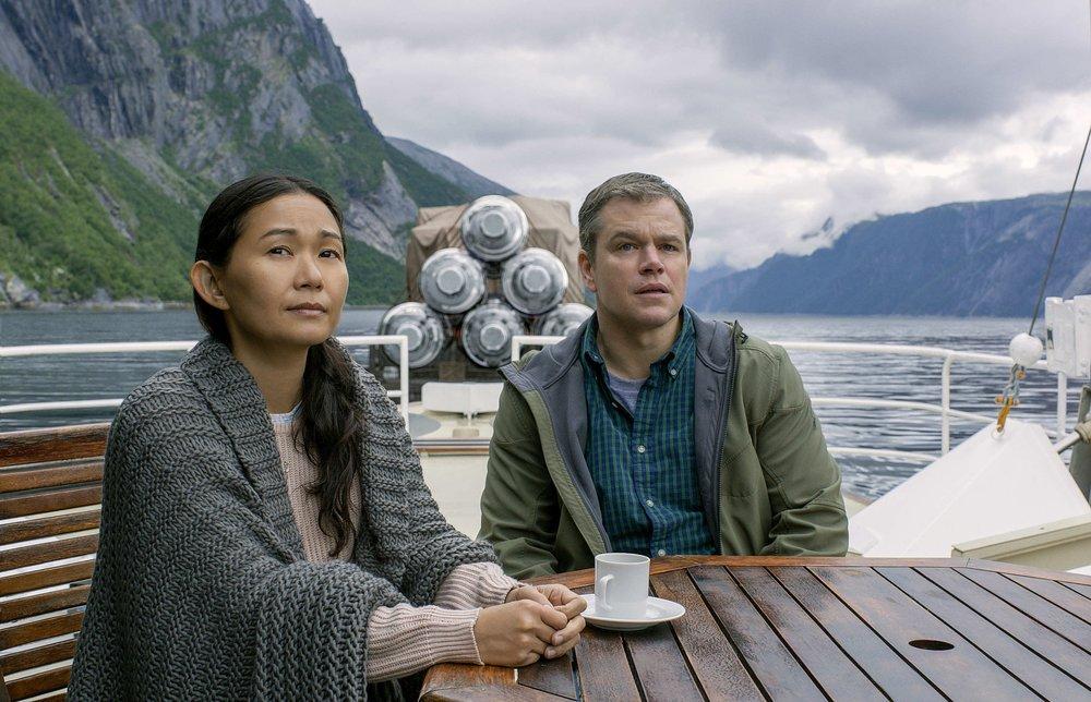 Hong Chau and Matt Damon  /Paramount Pictures