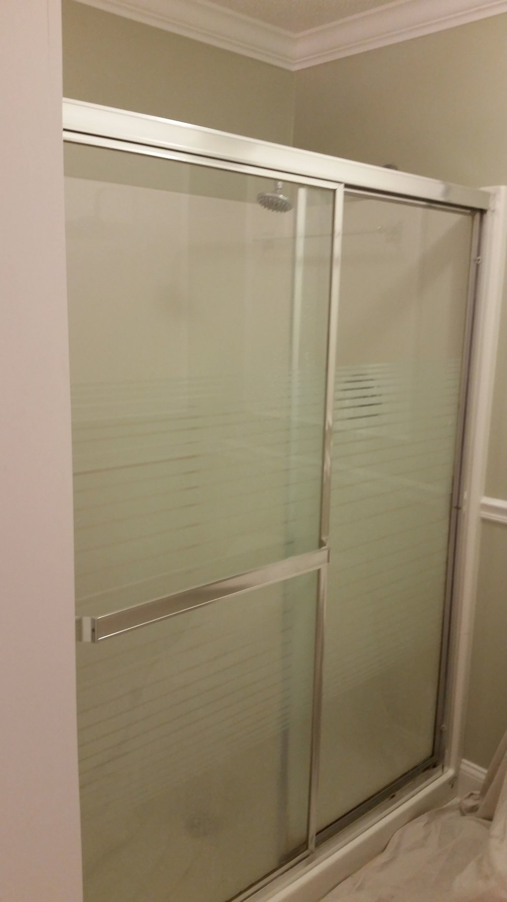 BEFORE - Dated Sliding Doors