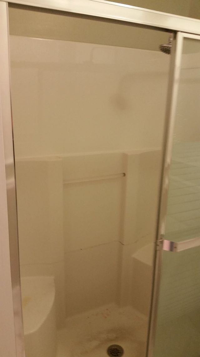 BEFORE - Fiberglass Shower