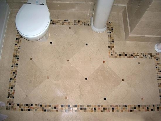 Laminate with pattern in bath