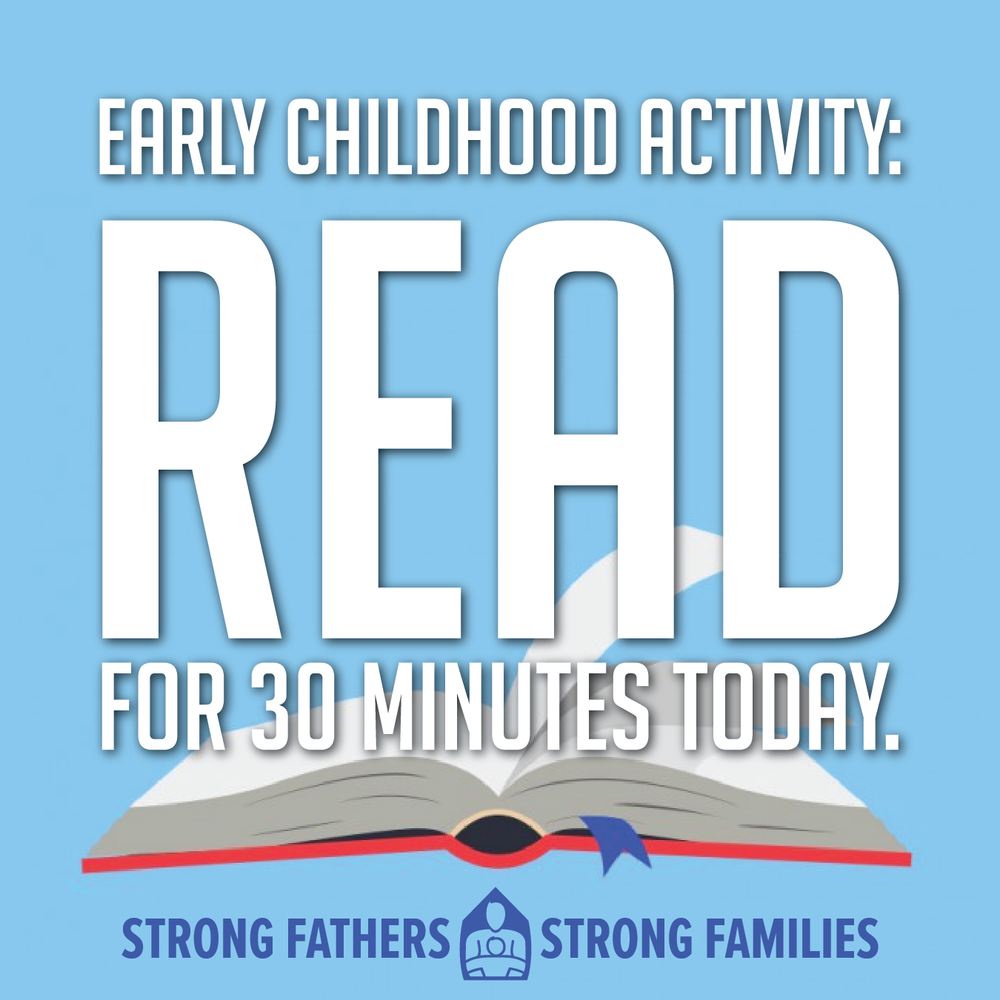 Read with your child for 30 minutes today.