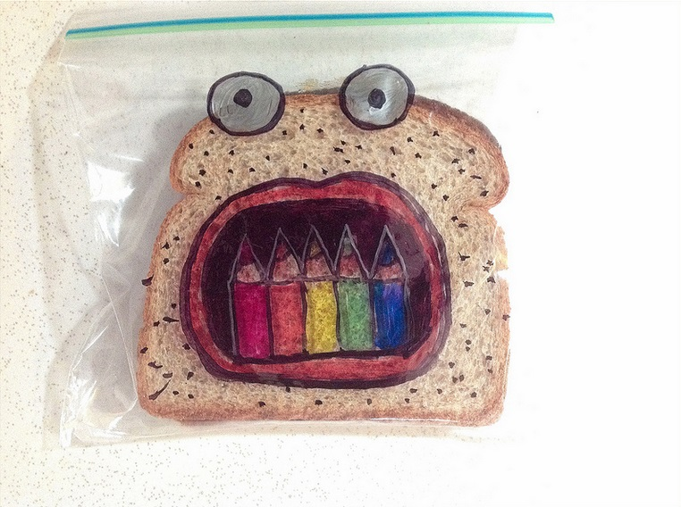 David Laferriere lunch bag art