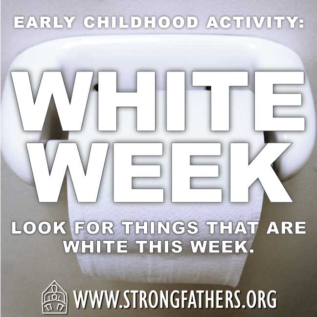 White Week.  Look for things that are white this week.