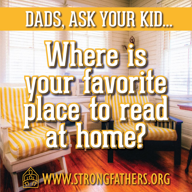 Where is your favorite place to read at home?