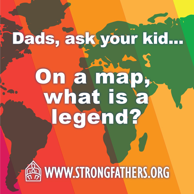 On a map, what is a legend?