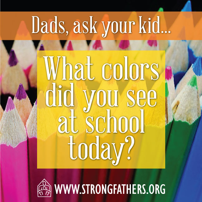 What colors did you see at school today?