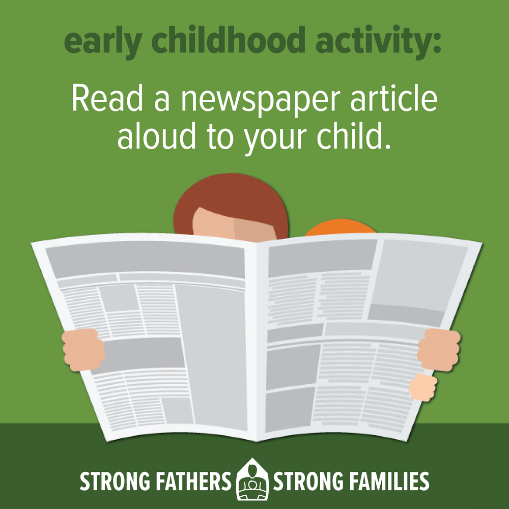 Read a newspaper article to your kid.
