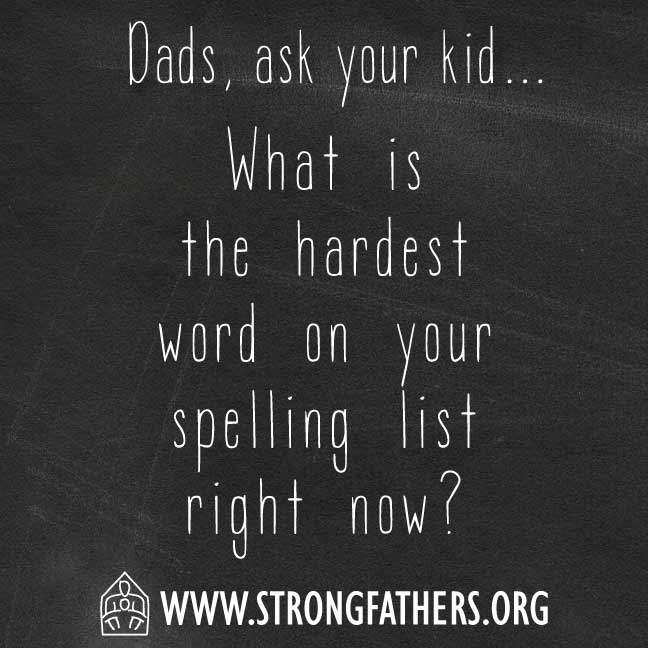 What is the hardest word on your spelling list right now?