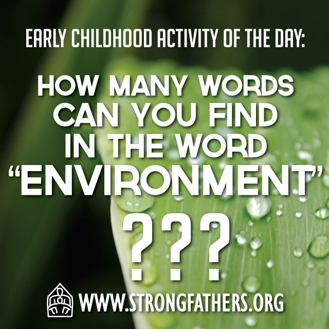 How many words can you find in the word envirnoment?