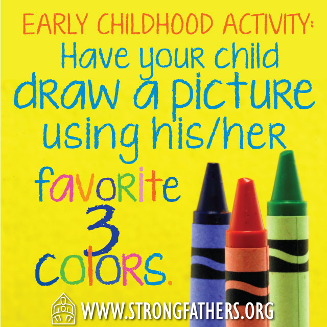 Have your chid draw a picture using his/her favorite 3 colors.