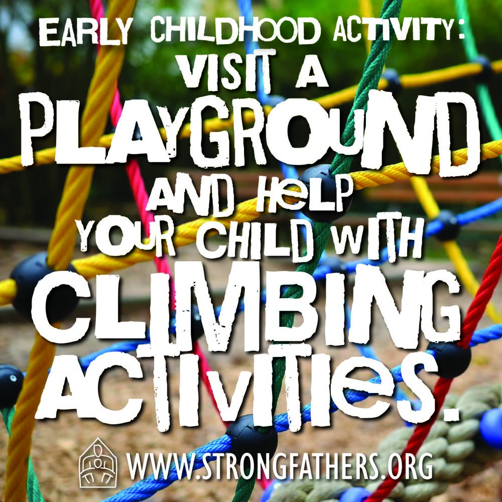 Visit a playground and help your child with climbing activities