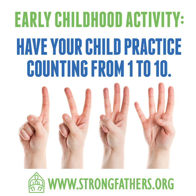 Have your child practice counting from 1-10