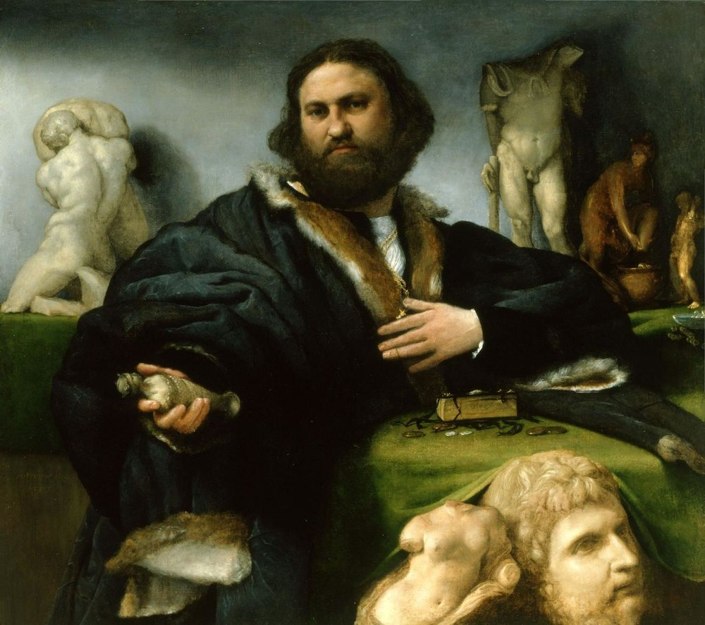 Lowest prices on antiquities, guaranteed!  Andrea Odoni, by Lorenzo Lotto, 1527