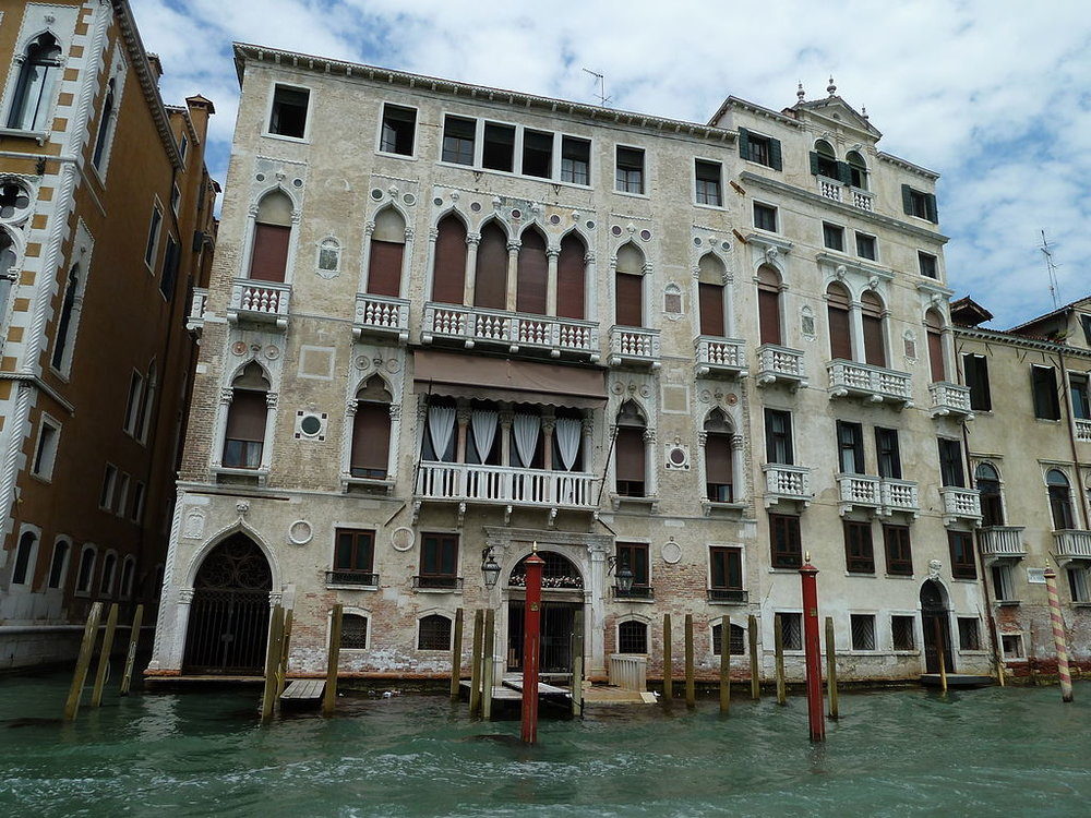 The majestic  Palazzo Barbaro , on the Grand Canal just south of the Accademia Bridge, was the location of Zaneta Lucia's engagement party.