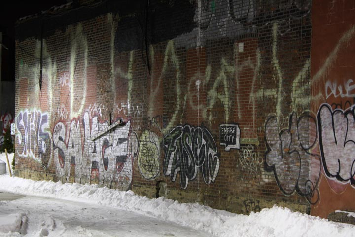Random Graffiti shot off Metropolitan ave near the BQE circa 2010