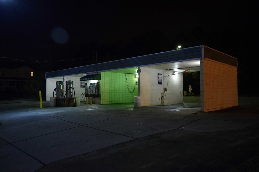 Late Night. Car Wash. Durham NC. 01/17